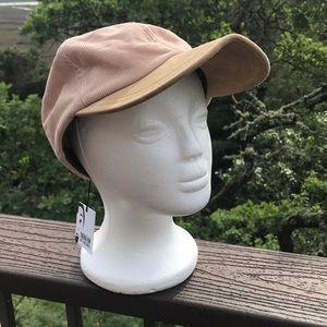 Eugenia Kim Darien Cap Hat Corduroy Pink Suede M